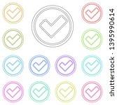 checkmark multi color icon....
