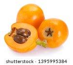 loquat fruit isolated on white... | Shutterstock . vector #1395995384