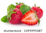 fresh strawberry isolated on... | Shutterstock . vector #1395995387