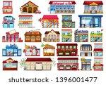 set of shop store illustration | Shutterstock .eps vector #1396001477