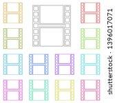 film strip multi color icon....