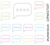 message multi color icon....