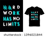 hard work has no limits... | Shutterstock .eps vector #1396021844