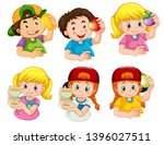 set of boy and girl character... | Shutterstock .eps vector #1396027511
