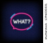 what neon text vector with a... | Shutterstock .eps vector #1396030331