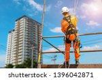 safety sprinkling worker on...   Shutterstock . vector #1396042871