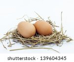 Chicken Eggs In The Nest Of...