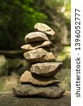 cairn stones carefully balanced ... | Shutterstock . vector #1396052777