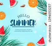 tropical fruit summer...   Shutterstock .eps vector #1396053257