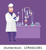 researcher chemical laboratory  ... | Shutterstock .eps vector #1396061081