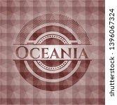 oceania red polygonal badge....   Shutterstock .eps vector #1396067324