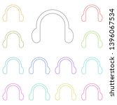 headphones symbol sign multi...