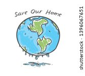 save our home. earth. global... | Shutterstock .eps vector #1396067651