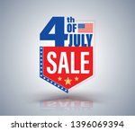 4th of july independence day... | Shutterstock .eps vector #1396069394
