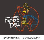 happy fathers day vector banner ... | Shutterstock .eps vector #1396093244