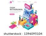 financial  withdrawal cash.... | Shutterstock .eps vector #1396095104
