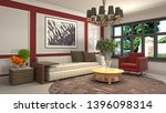interior of the living room. 3d ...   Shutterstock . vector #1396098314