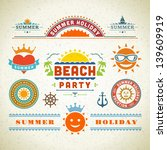 retro summer labels and signs.... | Shutterstock .eps vector #139609919