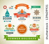retro summer labels and signs.... | Shutterstock .eps vector #139609931