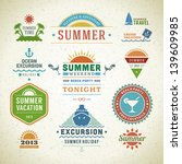 retro summer labels and signs.... | Shutterstock .eps vector #139609985