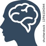 head with brain vector icon | Shutterstock .eps vector #1396104344