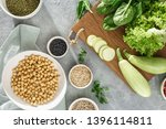 set raw foods cooking... | Shutterstock . vector #1396114811
