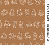 coffee cup. tea mug. seamless... | Shutterstock .eps vector #1396117151