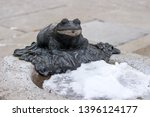 Frog Statue Beside Basin Fille...