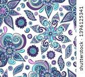 paisley. seamless vector... | Shutterstock .eps vector #1396125341