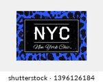 nyc slogan typography on... | Shutterstock .eps vector #1396126184