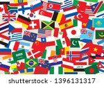 a poster with a lot of world... | Shutterstock .eps vector #1396131317