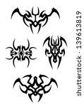 tribal tattoo set | Shutterstock .eps vector #139613819