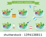 how to clean vegetables for... | Shutterstock .eps vector #1396138811
