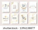set of wedding invitation card... | Shutterstock .eps vector #1396138877