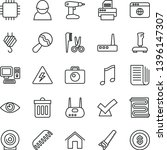 thin line vector icon set  ... | Shutterstock .eps vector #1396147307