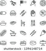 thin line vector icon set  ... | Shutterstock .eps vector #1396148714