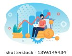 investment and analysis money... | Shutterstock .eps vector #1396149434