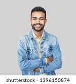 portrait of handsome smiling... | Shutterstock . vector #1396150874