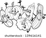 black and white cartoon vector... | Shutterstock .eps vector #139616141