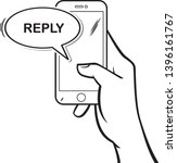 hand drawn smartphone with the...   Shutterstock .eps vector #1396161767