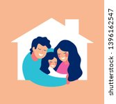 oncept housing a young family... | Shutterstock .eps vector #1396162547