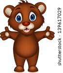 cute baby brown bear cartoon... | Shutterstock .eps vector #139617029