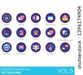 internet marketing icons...   Shutterstock .eps vector #1396174904