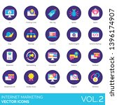 internet marketing icons...
