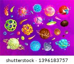 space planets  asteroid  moon ... | Shutterstock .eps vector #1396183757
