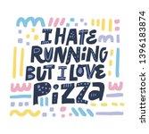 unhealthy lifestyle slogan flat ... | Shutterstock .eps vector #1396183874