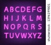 neon letters signboard  vector... | Shutterstock .eps vector #1396199801