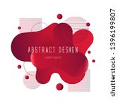 red abstract liquid shape ... | Shutterstock .eps vector #1396199807
