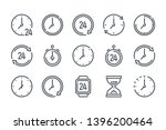 time and clock related line... | Shutterstock .eps vector #1396200464