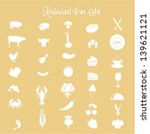 restaurant  icon set | Shutterstock .eps vector #139621121
